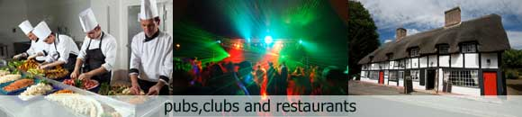 Pubs, Clubs and Restaurants